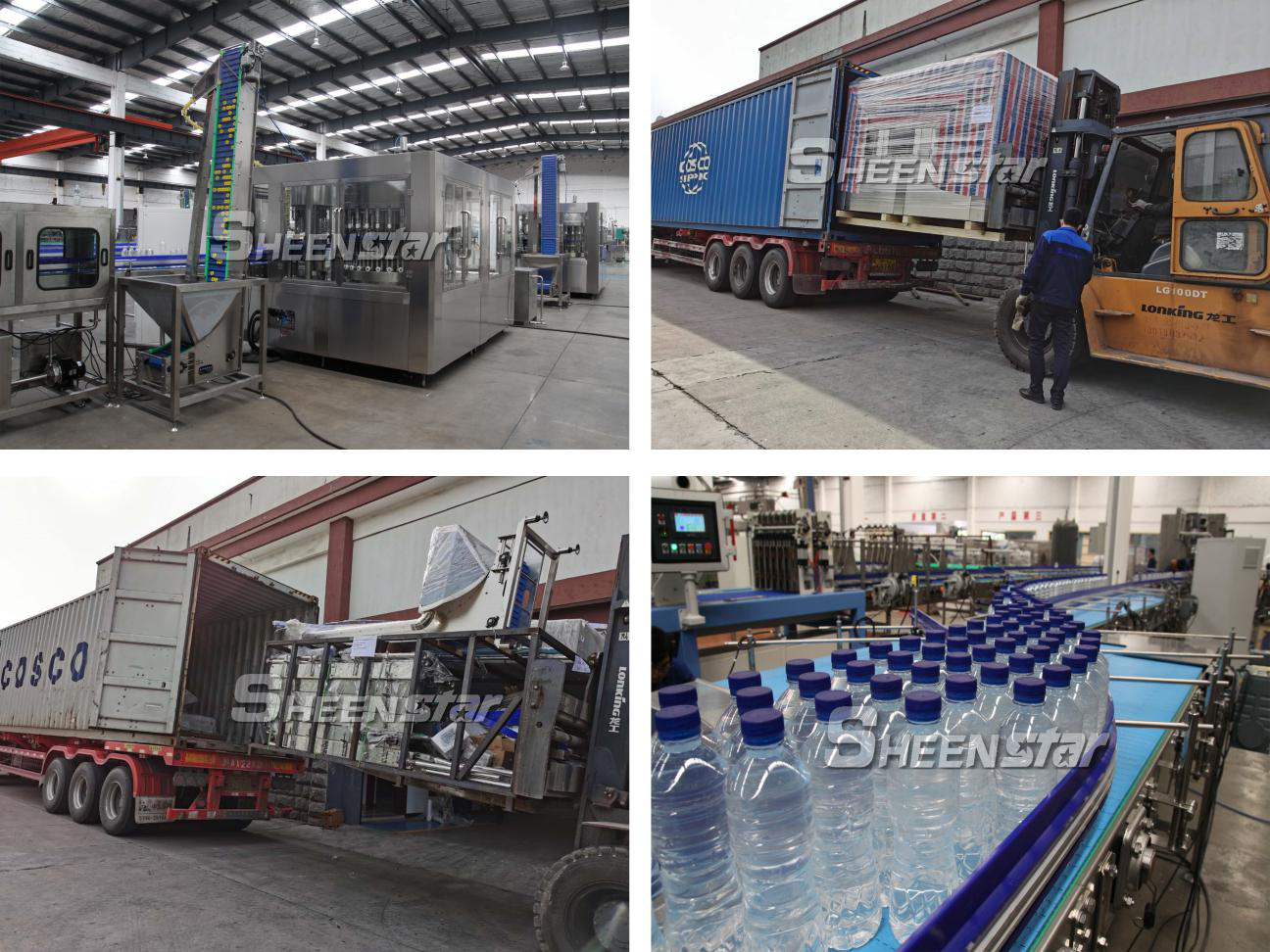 Water Filling Machine Was Packed into Containers for Shipping